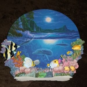 "1996 Colors of the Sea ""Moonlight Paradise"" Plate"